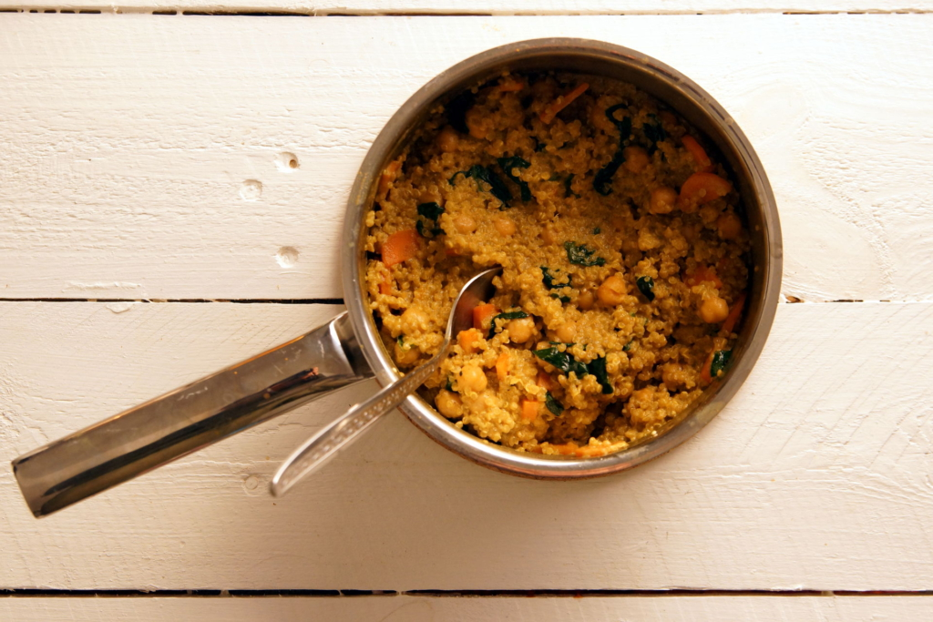 Quinoa-Curry-Spinat