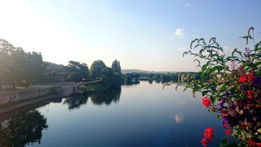 Der Jakobsweg führte mich oft über toll begrünte Brücken mit tollen Ausblicken. jakobsweg strecke frankreich tagebuch wanderveg domibility
